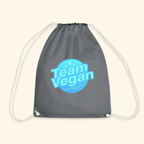 Team Vegan - Here to Save The World - Drawstring Bag