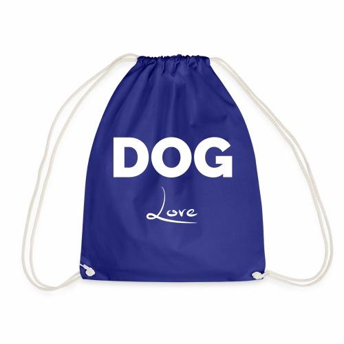 DOG LOVE - Geschenkidee für Hundebesitzer - Turnbeutel