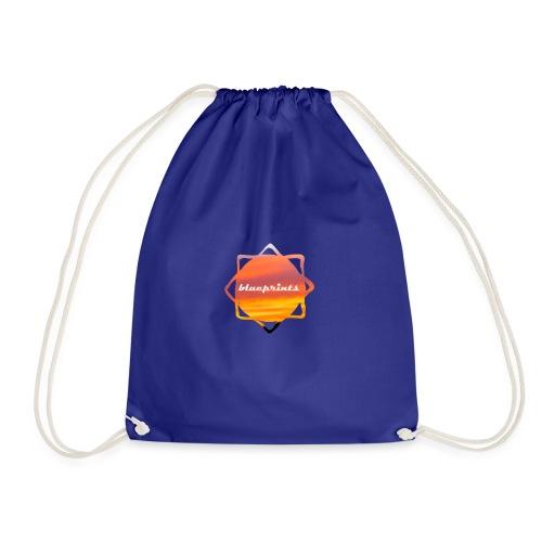 blue prints - Drawstring Bag