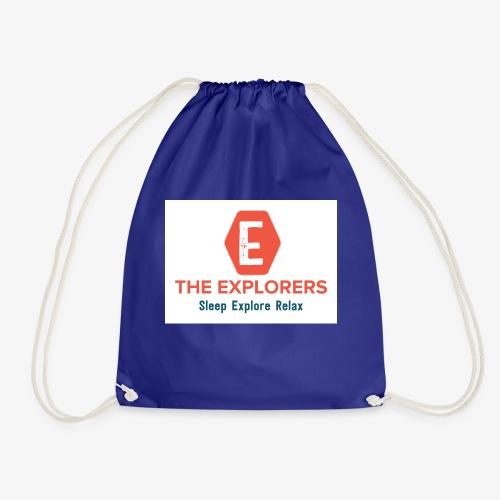 logo white background - Drawstring Bag