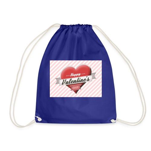 happy valentines day - Drawstring Bag