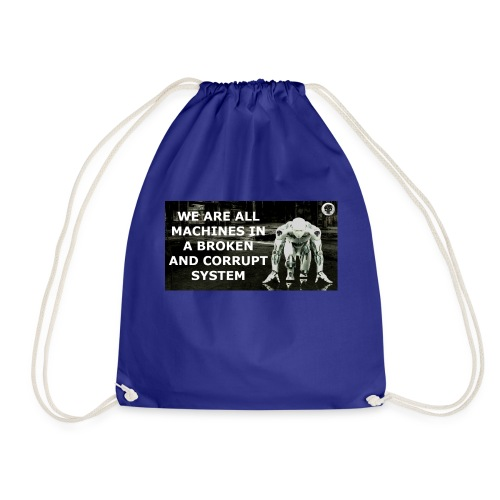 BROKEN MACHINES COLLECTION BY SYSTEM MACHINE - Drawstring Bag