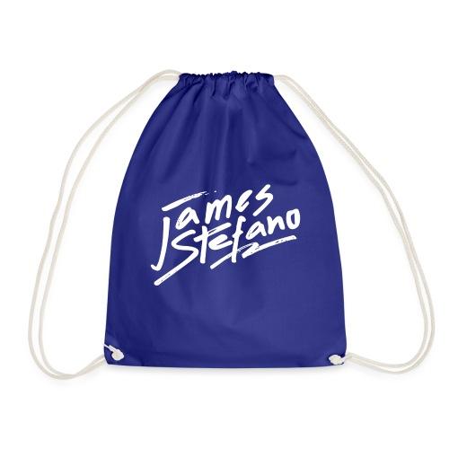 James Stefano 2017 Logo Wit - Gymtas