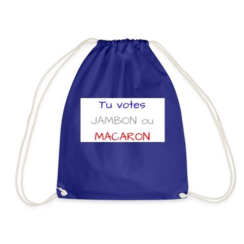 Tu votes JAMBON ou MACARON - Sac de sport léger