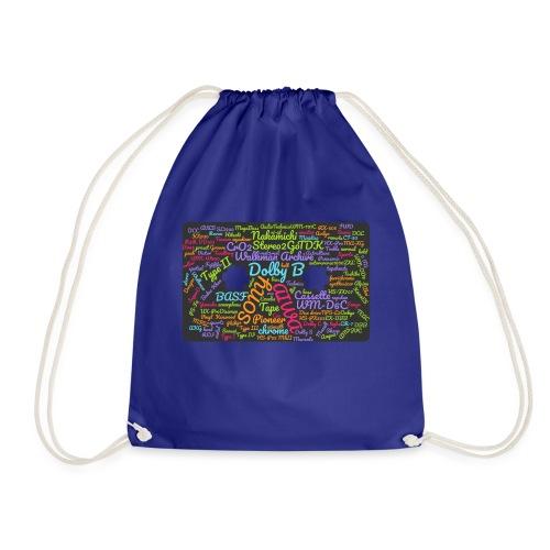 wordcloud Cassettes- WA - Drawstring Bag