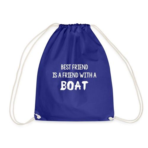 bestfriendboat png - Drawstring Bag