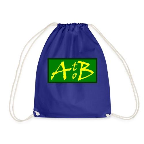 AtoB Logo green / yellow - Drawstring Bag