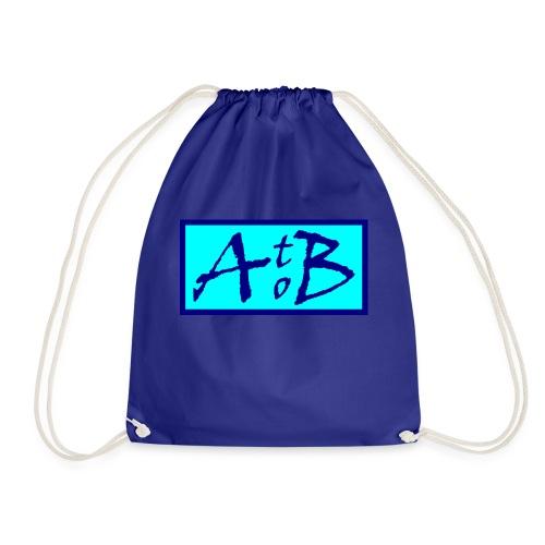 AtoB Logo light blue - Drawstring Bag