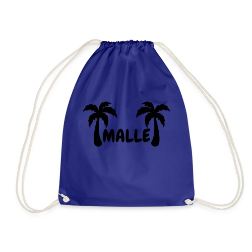 Malle - Schriftzug mit zwei Palmen - Turnbeutel