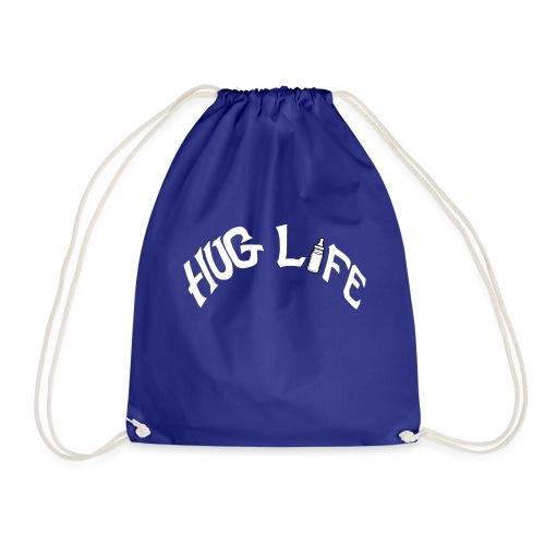 White Hug Life - Drawstring Bag