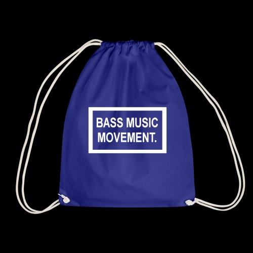 Bass Music Movement - White - Drawstring Bag