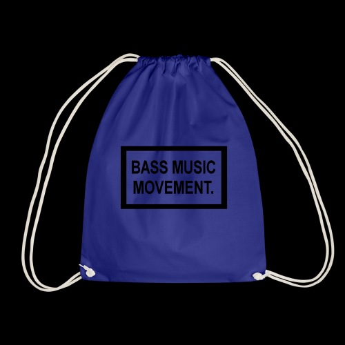 Bass Music Movement - Black - Drawstring Bag