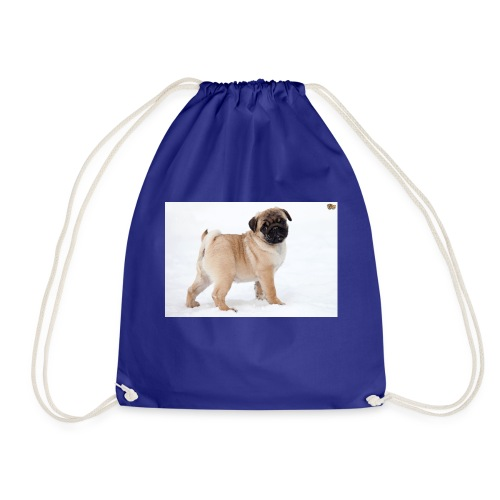 walker family pug merch - Drawstring Bag