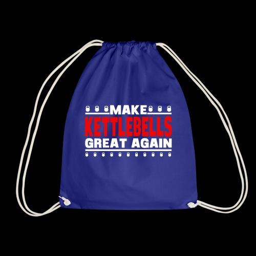 make bells great again WHITE RED - Drawstring Bag