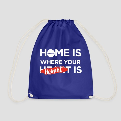 Home Heimat Heart Black - Turnbeutel