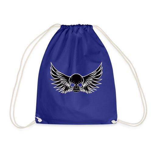 skull wings black - Gymtas