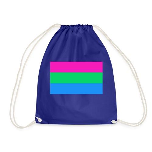 Polysexual Pride Flag - Drawstring Bag