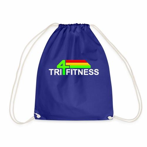 tri4fitnes logo | White text - Drawstring Bag