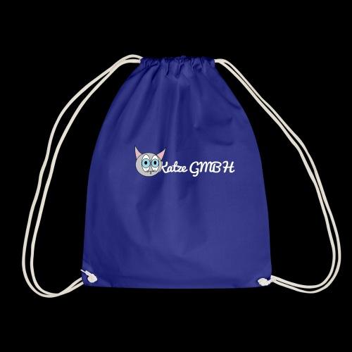 Katze GMBH Logo mit Schriftzug (Weiss auf dunkel) - Turnbeutel