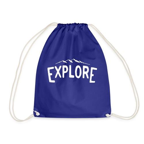 explore white png - Sacca sportiva