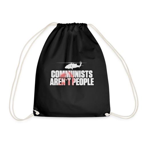Communists aren't People (White) (No uzalu logo) - Drawstring Bag