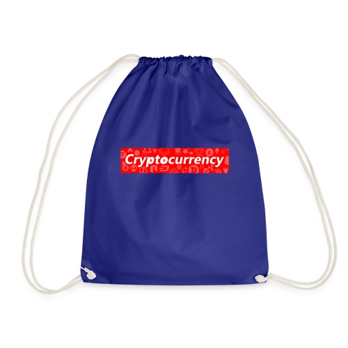 Cryptocurrency - Crypto Currency Logo Design - Drawstring Bag