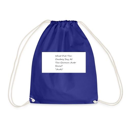 Car Joke - Drawstring Bag