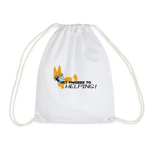 Set Phasers to Helping - Drawstring Bag