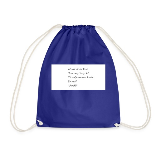 Car Joke - Drawstring Bag