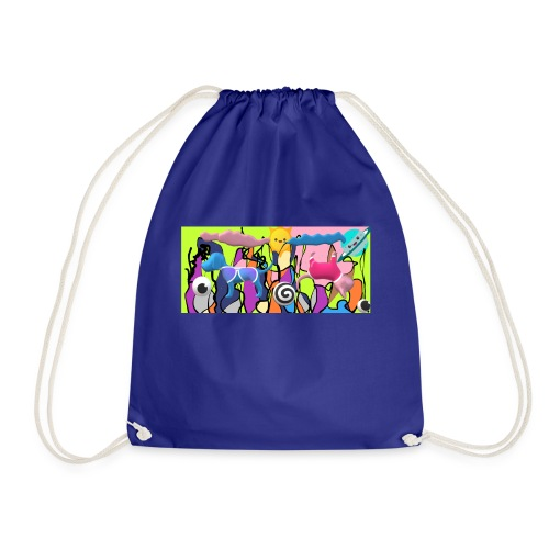 cats and dogs - Drawstring Bag