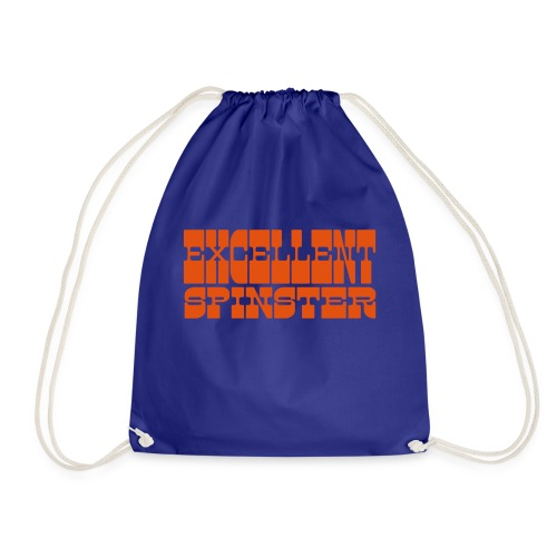 excellent spinster - Drawstring Bag
