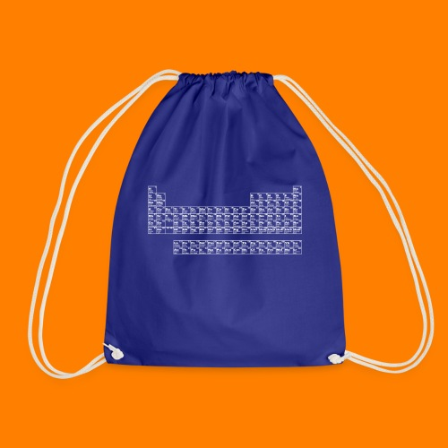 periodic white - Drawstring Bag