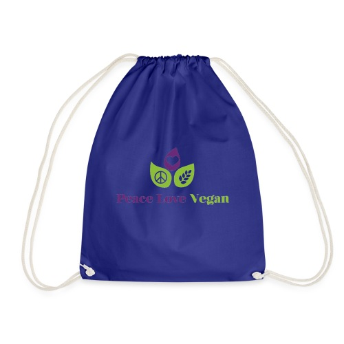 Peace Love Vegan - Drawstring Bag