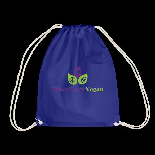 Peace Love Vegan - Drawstring Bag