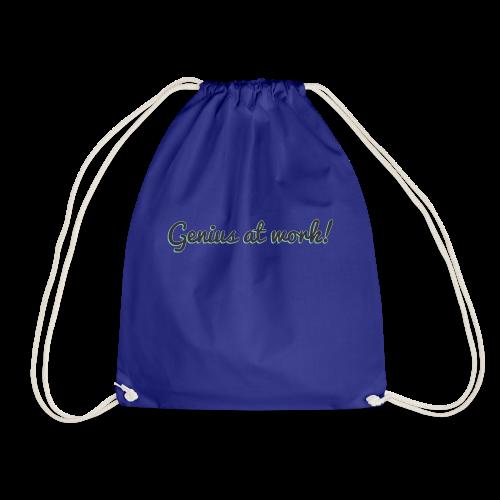 'Genius at work!' Design - Drawstring Bag