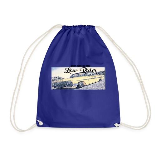 Lowrider impala 1963 vato loco west coast tshirt - Drawstring Bag