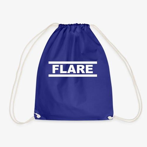 Black Hoodie - White logo - FLARE - Gymtas