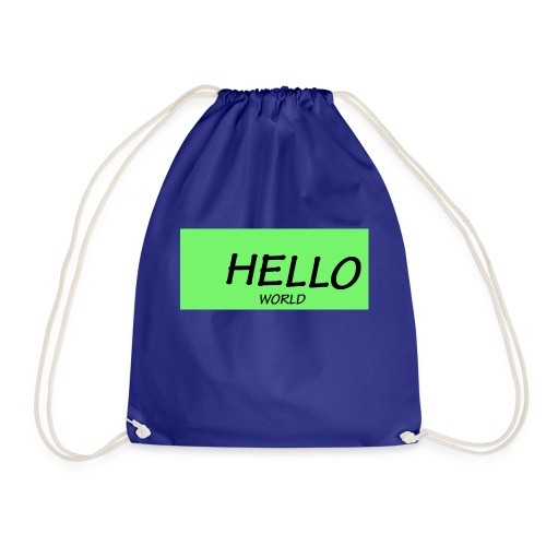 HELLO - Drawstring Bag