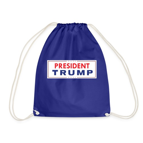 President Trump (White) - Drawstring Bag
