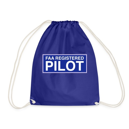 faa part 107 registered pilot - Drawstring Bag