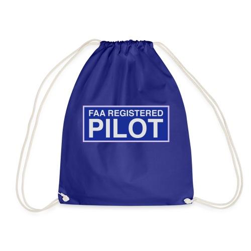 faa part 107 registered pilot - Drawstring Bag