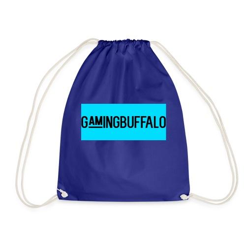 Long Logo BLUE - Drawstring Bag