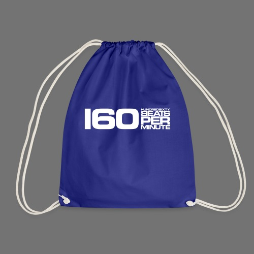 160 BPM (white long) - Drawstring Bag