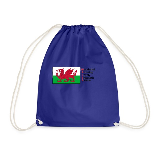 wales_letters - Drawstring Bag