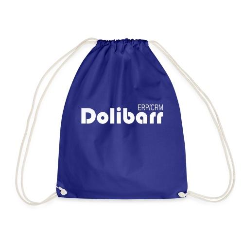 Dolibarr logo white - Drawstring Bag