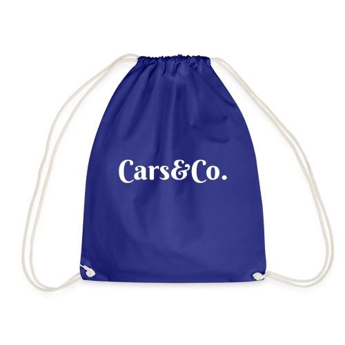 White Simplistic - Drawstring Bag