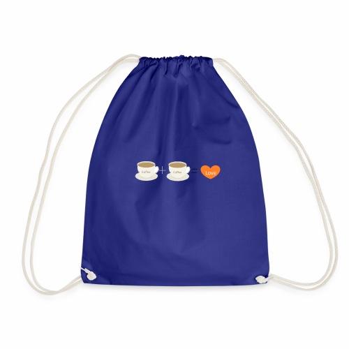 Coffe plus Coffee equals Love - Drawstring Bag
