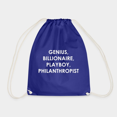 Genius Billionaire White - Drawstring Bag