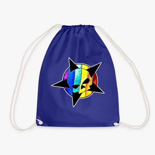 ranbow skull - Drawstring Bag