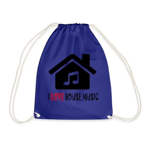 House Music Haus Party Shirt - Turnbeutel